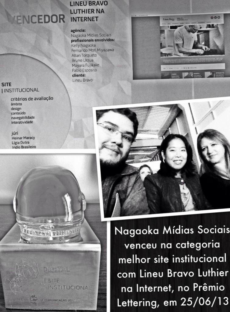 Nagaoka Mídias Sociais venceu categoria melhor site institucional no Prêmio Lettering de Comunicação 2013