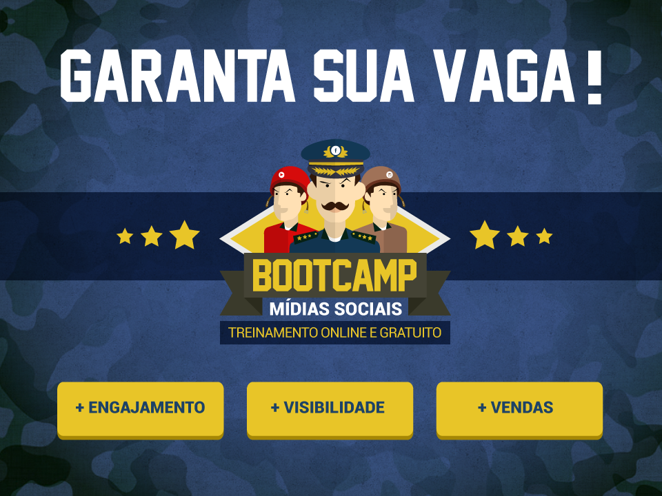 Evento online gratuito do Quartel Digital: Bootcamp Mídias Sociais, de 16 a 22/09