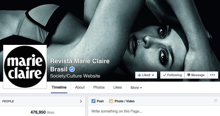 Polêmica em Facebook de revista feminina mensal