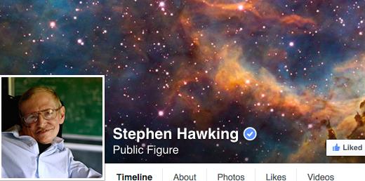 Stephen Hawking encanta fãs em rede social