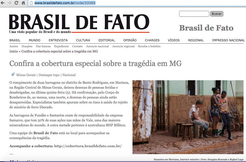 brasil de fato samarco