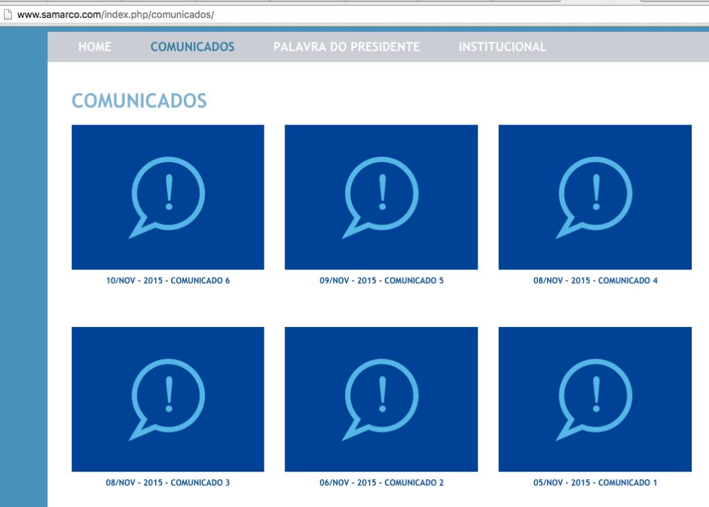 samarcos comunicados site