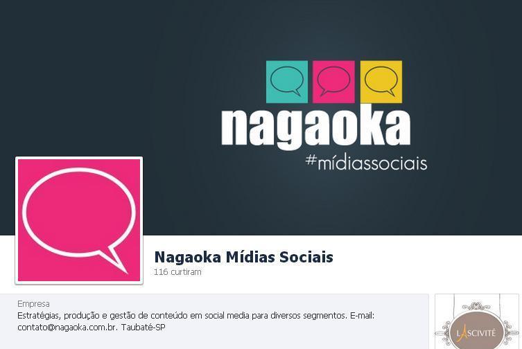 Novidades na página do Facebook Nagaoka Mídias Sociais