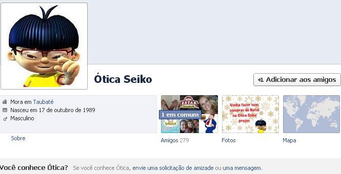 Perfil pessoal e página no Facebook para empresas