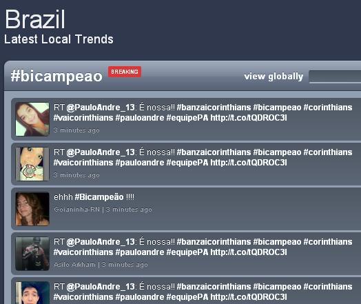 Trendmaps, de 16 de dezembro, no Brasil