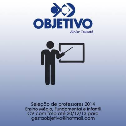 Objetivo Júnior Taubaté - vagas para professores 2014