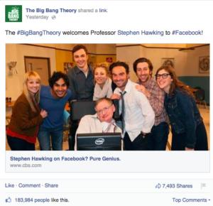 the big bang theory stephen hawking