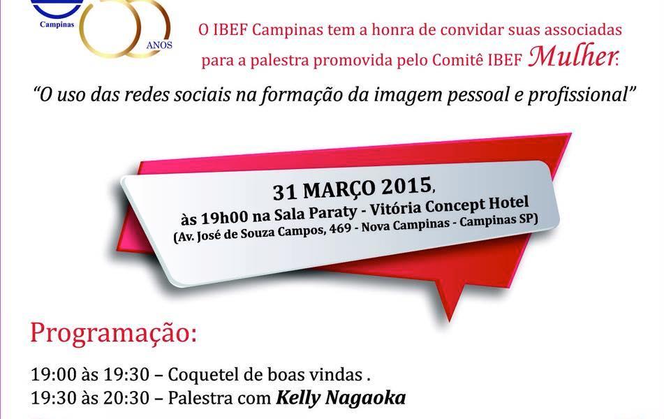 IBEF Campinas promove palestra de mídias sociais com Kelly Nagaoka