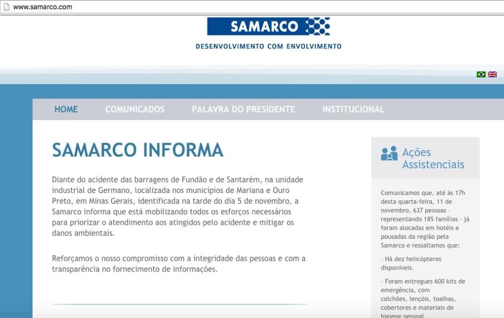 hotsite samarco
