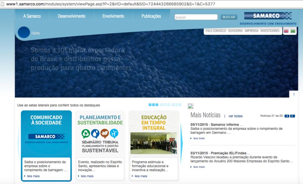 site institucional samarco1