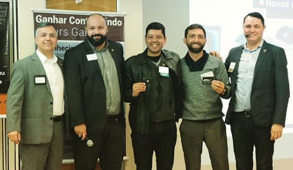 Max Constâncio e Ivandro Lima, membros do Power Team BNI Referência da Construção, foram destaques em 2018