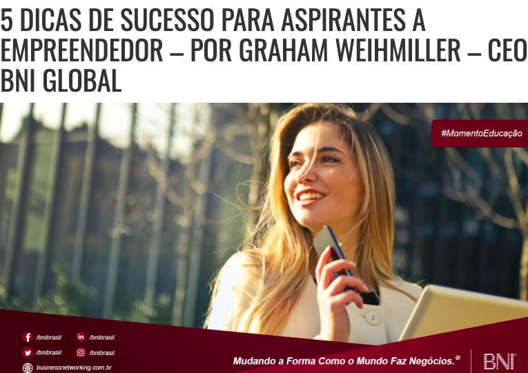 Estratégia de Blog: Dica do BNI Brasil aos empreendedores