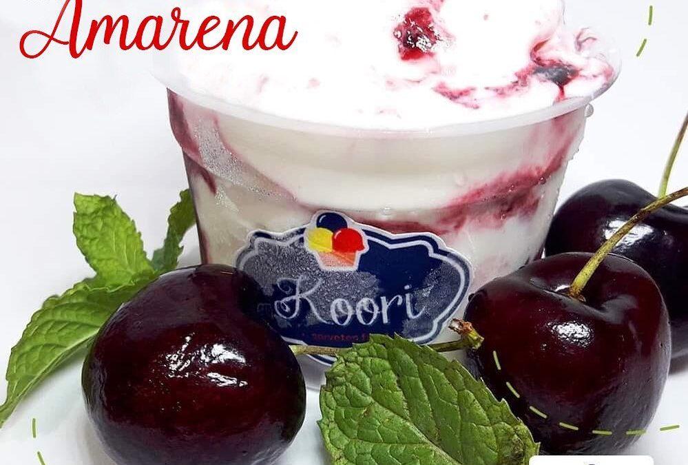 Benefícios da amarena, um dos sabores dos sorvetes artesanais da Koori Sorvetes, em Taubaté