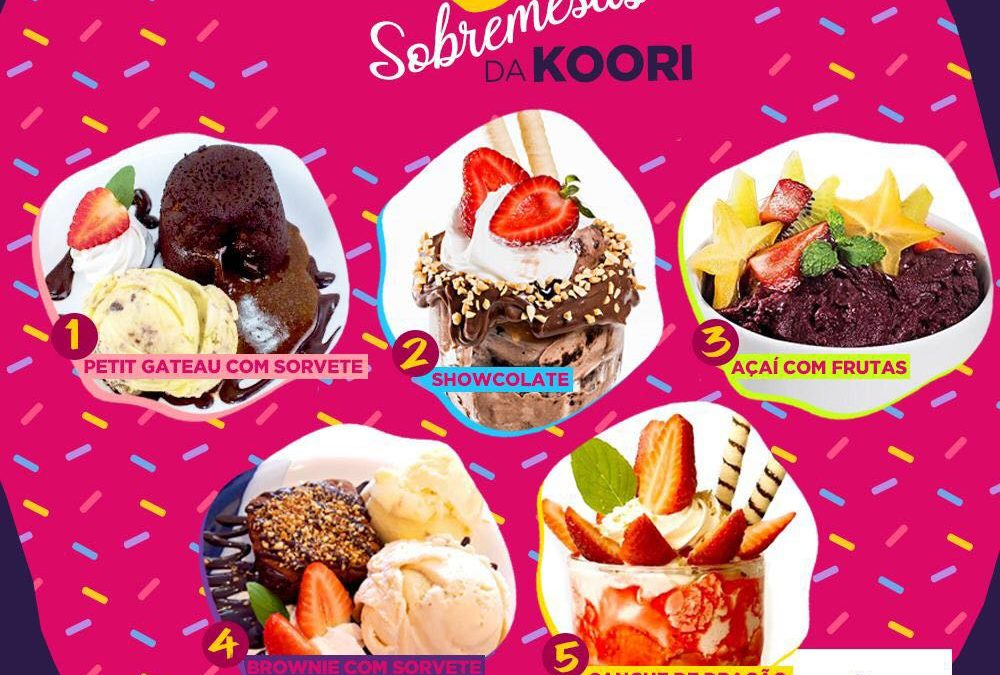 Top 5 sobremesas da Koori Sorvetes, em Taubaté